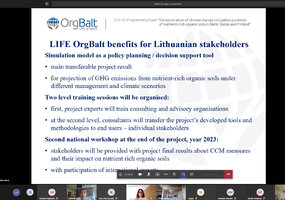 "Climate change mitigation measures were discussed at the LIFE ""OrgBalt"" national workshop - 3"