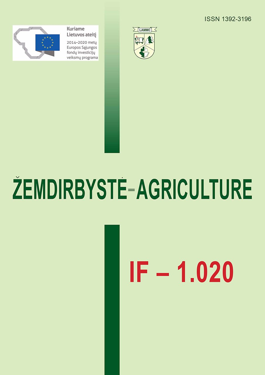 The Citation Index Of The Scientific Journal Zemdirbyste